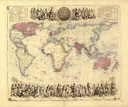 British Empire Prints - British Empire World Map, 19th Century Print by Library Of Congress
