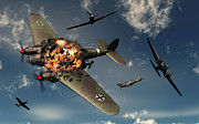 Destruction Digital Art - British Hawker Hurricane Aircraft by Mark Stevenson