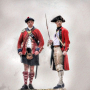 British Officer And Soldier Print by Randy Steele