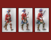 French Revolution Prints - British Royal Highlanders Print by Randy Steele