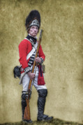 Officer Digital Art Prints - British Soldier American Revolution Print by Randy Steele