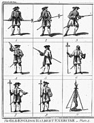 Spencer Prints - British Soldier Drills Print by Granger