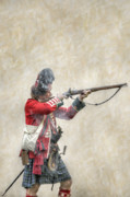 Courage Metal Prints - British Soldier Firing Musket Metal Print by Randy Steele
