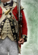 Re-enactor Prints - British Soldier from Amerian Revolution Print by Jill Battaglia
