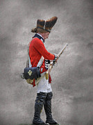 French Revolution Prints - British Soldier with Rifle American Revolution Print by Randy Steele