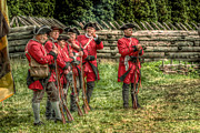 Loyalist Prints - British Soldiers at Fort Ligonier Print by Randy Steele