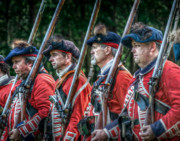 Courage Metal Prints - British Soldiers March to Fort Pitt Metal Print by Randy Steele