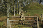 Training Prints - British Soldiers Perform Basic Training Print by Andrew Chittock
