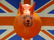 Bouncer Posters - British Space Hopper Poster by Richard Reeve