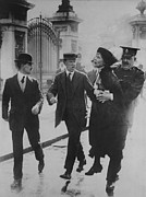 Arrest Prints - British Suffragette Emmeline Pankhurst Print by Everett