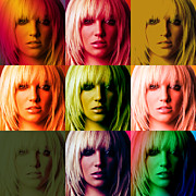 Britney Spears Prints - Britney Spears Bold Warhol by GBS Print by Anibal Diaz