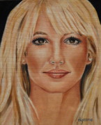 Britney Spears Framed Prints - Britney Spears Celebrity Painting Framed Print by Dyanne Parker