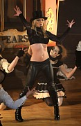 Leggings Framed Prints - Britney Spears On Stage For Good Framed Print by Everett