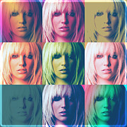 Anibal Diaz Framed Prints - Britney Spears Pastel Warhol by GBS Framed Print by Anibal Diaz