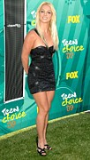 Little Black Dress Prints - Britney Spears Wearing A Roberto Print by Everett