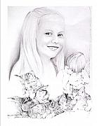 Portaits Drawings - Britt by TerryAnne Groehler