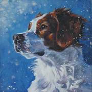 Dog Study Art - Brittany Spaniel Head Study by Lee Ann Shepard