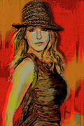 Portraits Art - Brittney Spears by Byron Fli Walker