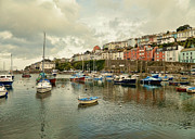 Quay Wall Framed Prints - Brixham harbor 2 Framed Print by Sharon Lisa Clarke
