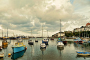 Quay Wall Framed Prints - Brixham harbor Framed Print by Sharon Lisa Clarke