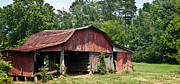 Tennessee Barn Prints - Broad Roofed Barn 1 Print by Douglas Barnett
