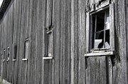 Barn Windows Posters - Broadside of a barn Poster by David Bearden
