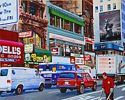 Street Scenes Originals - Broadway by John Tartaglione