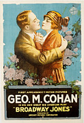 Newscanner Photo Prints - Broadway Jones, George M. Cohan Print by Everett