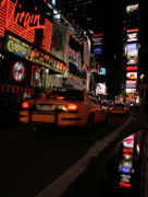 Broadway Lights Print by Karol  Livote