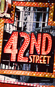 42nd Street Digital Art - Broadway Lights by Linda  Parker