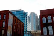 Old And New Photo Prints - Broadway Nashville TN Print by Susanne Van Hulst