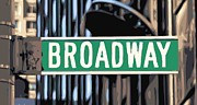 Built Digital Art Posters - Broadway Sign Color 16 Poster by Scott Kelley