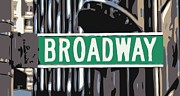 Built Digital Art Posters - Broadway Sign Color 6 Poster by Scott Kelley