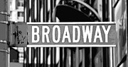 Broadway Sign Color Bw10 Print by Scott Kelley