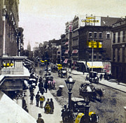 Carriages Posters - Broadway Street from 18th Street - New York City - c 1880 Poster by International  Images