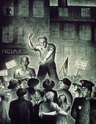 Police Art Art - Brodsky: Unemployed Rally by Granger