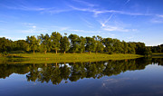 Golden Sky Framed Prints - Broemmelsiek Park - Spring Reflections Framed Print by Bill Tiepelman
