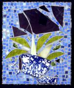 Planter Glass Art - Broken Again II by Diane Morizio