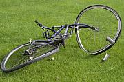 Pedals Photo Prints - Broken Bicycle Print by Carl Purcell