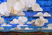 Landscape Tapestries - Textiles Framed Prints - Broken Cumulous Framed Print by Linda Beach