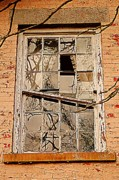Cabin Window Photos - Broken Dreams by Robert Harmon