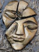 Human Reliefs Framed Prints - Broken Face Framed Print by Rajesh Chopra
