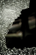 Crimes Prints - Broken glass Print by Lars Hallstrom