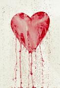 Cry Framed Prints - Broken Heart - Bleeding Heart Framed Print by Michal Boubin