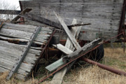 Old Wagon Photos - Broken by Joy Tudor
