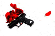 Guns And Roses Prints - Broken Rose Print by Emily Stauring