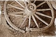 KayeCee Spain - Broken Wagon Wheel- Fine Art
