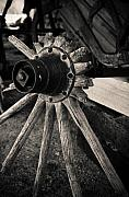 Wood Wheel Prints - Broken Wheel Print by Marius Sipa