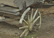 Covered Wagon Posters - Broken Wheel Poster by Michael Peychich