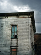 Haunted House Photos - Broken Window in Abandoned House by Jill Battaglia